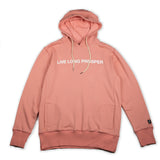 LIVE LONG 2 HOODY (PINK/WHITE)