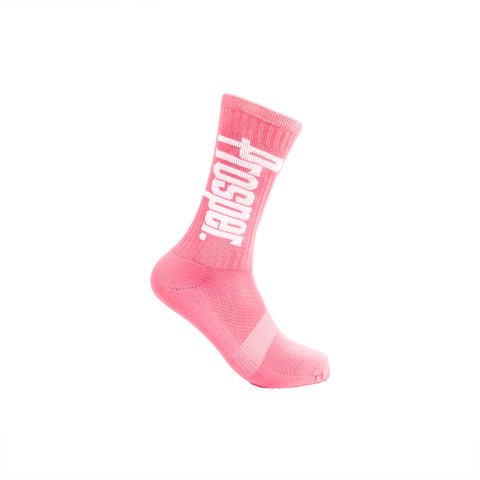 PROSPER CREW 3 SOCKS (PEACH/WHITE)