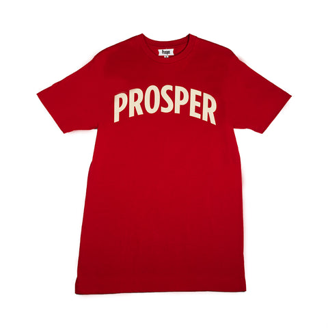 NECESSARY 2 S/S TEE (RED/CREAM)