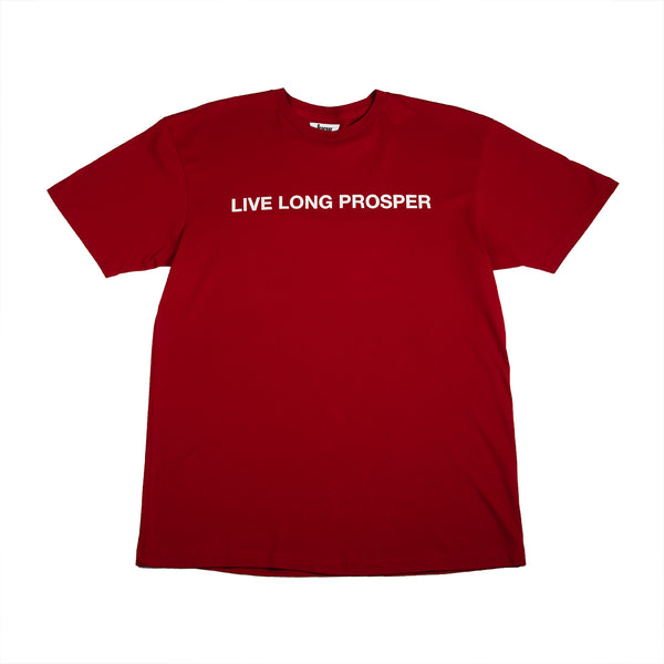 LIVE LONG 2 S/S TEE (CARDINAL RED/WHITE)