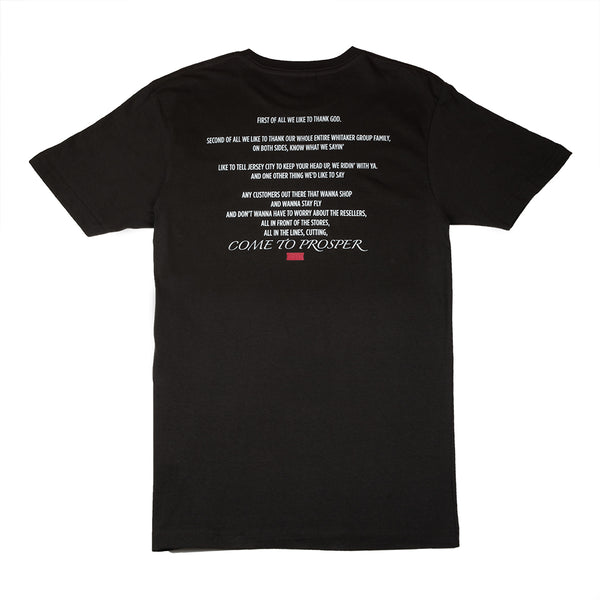 COME TO PROSPER S/S TEE (VINTAGE BLACK)