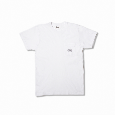 I Cared Pocket Tee (White)
