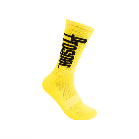 PROSPER CREW 3 SOCKS (YELLOW/WHITE)