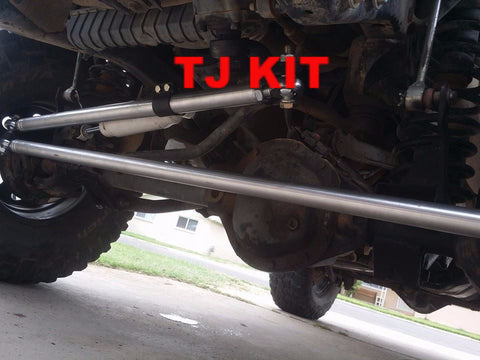 Jeep front axle Y-link eliminator steering kit for XJ-TJ-YJ *PRICE INCLUDES INSTALL!*