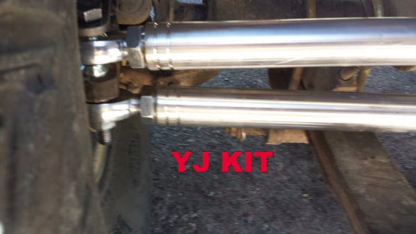 Jeep Front Axle Y Link Eliminator Steering Kit For Xj Tj