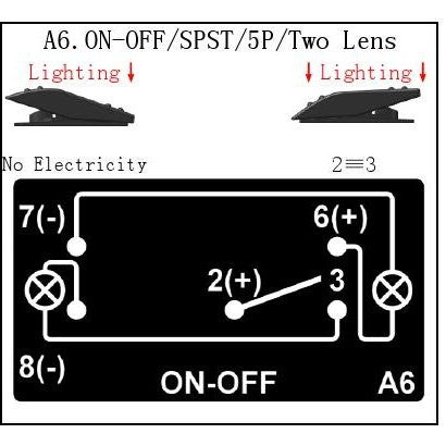 """STEREO"" Laser Backlit Blue Rocker Switch 20A 12V On/off LED Light"