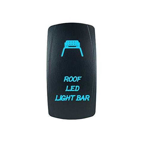 """ROOF LED LIGHT BAR"" Laser Backlit Blue Rocker Switch 20A 12V On/off LED Light"