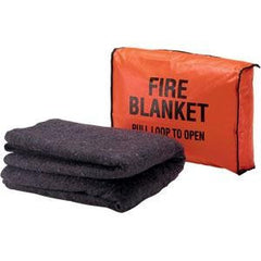 Wool Fire Blanket- with wall hanging bag.