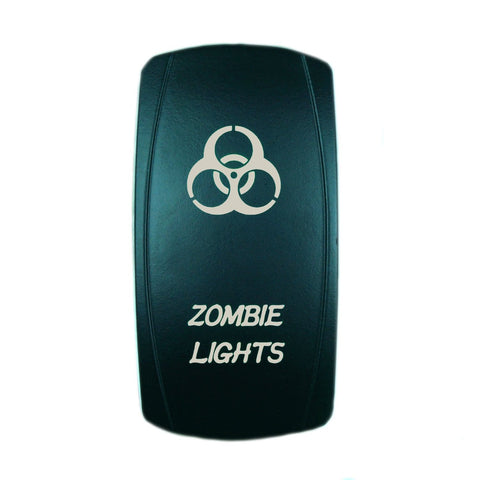 """ZOMBIE"" Laser Backlit Blue Rocker Switch 20A 12V On/off LED Light"