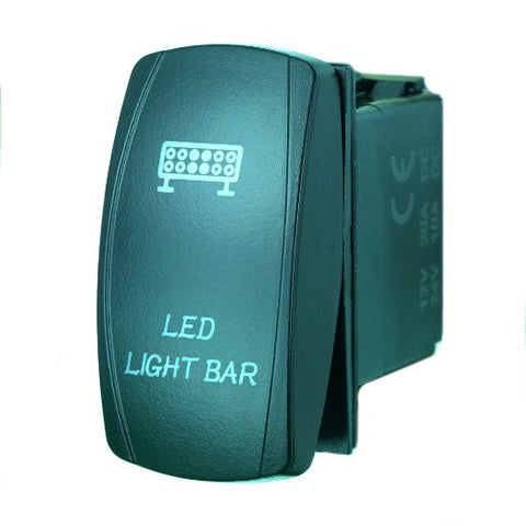 """LED LIGHT BAR"" Laser Backlit Blue Rocker Switch 20A 12V On/off LED Light"