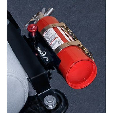 "Jeep JK floor fire extinguisher bracket ""put it where you can reach it"""