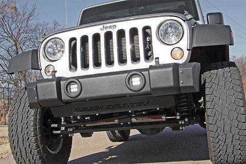 07-15 JK- Jeep factory fog light to led high out put light pod conversion kit.