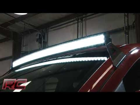 "2014-2015 GM 54"" Curved led light bar, wiring  & mount. Complete package !"