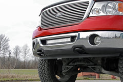 "2006-2008 f-150 front bumper 20"" light bar kit with mounts & harness, the complete package!"