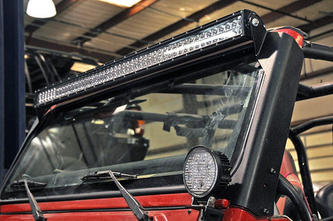 96-2006 TJ -Jeep wrangler led light bar, harness & mount complete package!