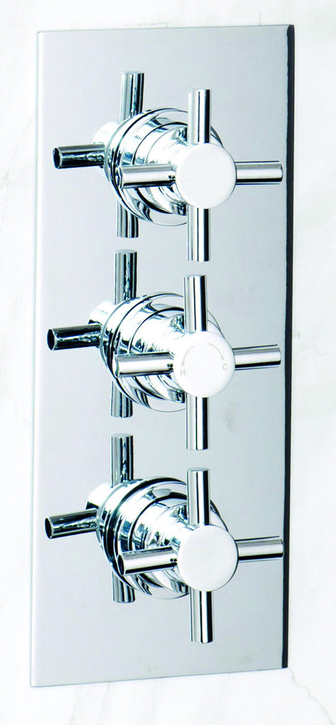 Hawkins thermostatic triple cross head concealed shower valve ...