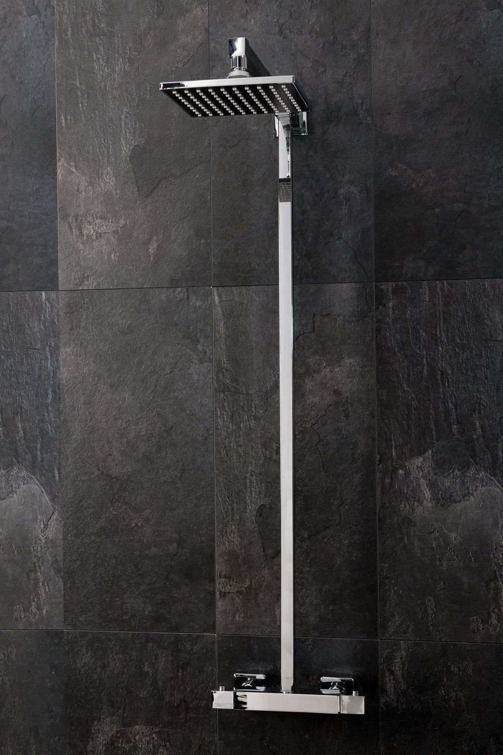 Allen Thermostatic Bar Shower With Rigid Riser And Overhead Rain Shower