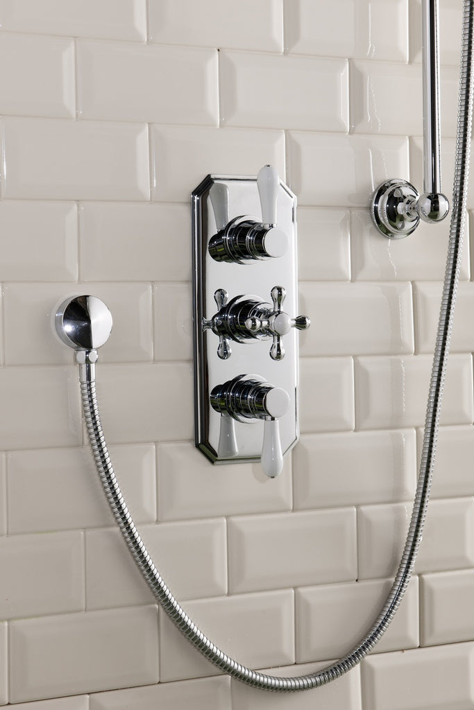 Halen thermostatic triple concealed shower valve – twilight bathrooms