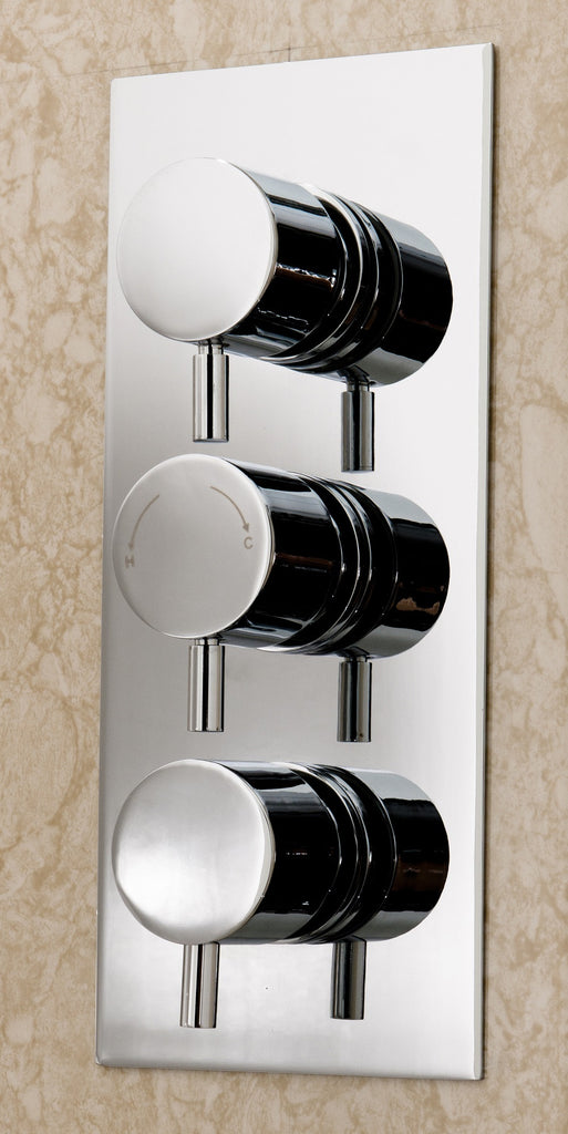 Palmer thermostatic concealed triple round shower valve – twilight ...