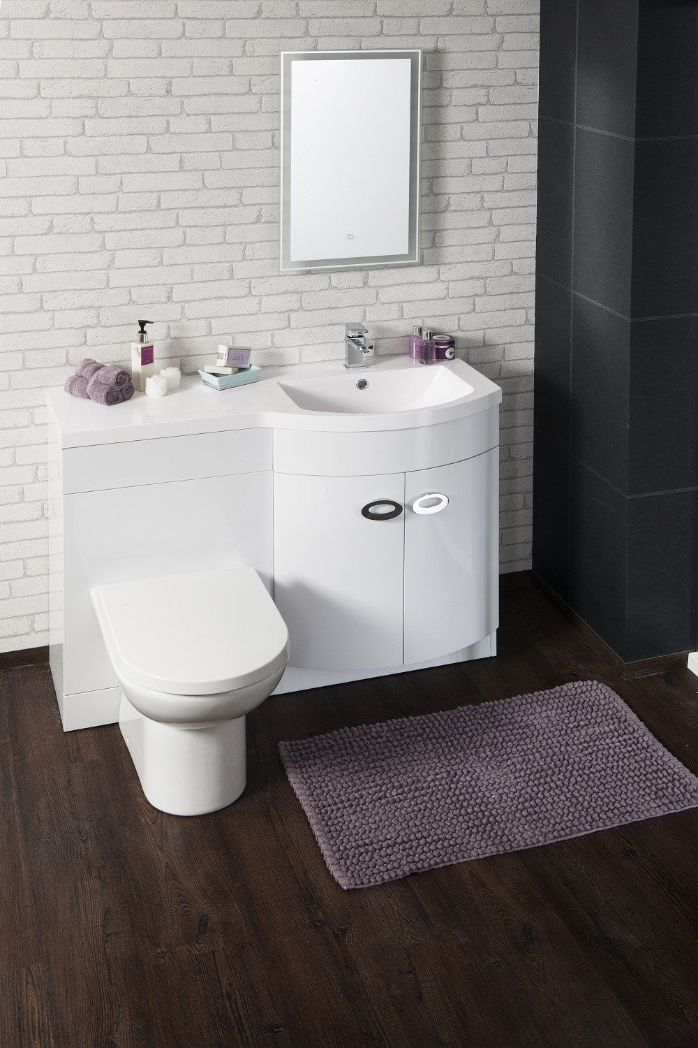 Ulrich Bow Front Basin Wc Set Right Hand Basin Twilight Bathrooms