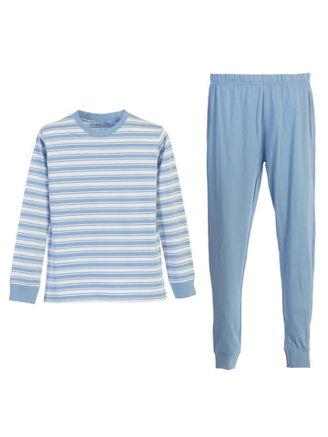 Gioberti 2 Piece Boys Knit Stripe Pajama Set