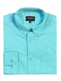 Men's Long Sleeve Casual Twill Shirts Folded