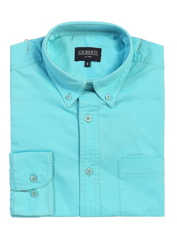 Gioberti Mens Long Sleeve Casual Twill Shirt