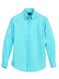 Men's Long Sleeve Casual Twill Shirts Front