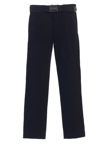 Gioberti Boy's Flat Front Pants with Belt