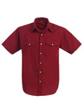 Gioberti Mens Casual Western Solid Short Sleeve Shirt With Pearl Snaps