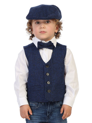 Gioberti Boy's 4 Piece Formal Paisley Vest Set, Burgundy