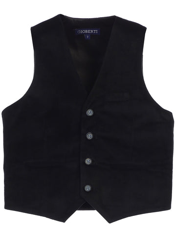 Gioberti Boy's Velvet Formal Suit Vest