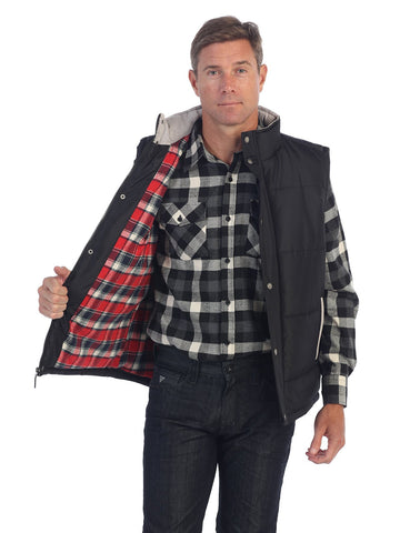 Gioberti Mens Padded Vest with Flannel Lining
