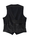 Back View of Mens Button Formal Suit Vest
