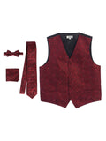 men's formal paisley vest set