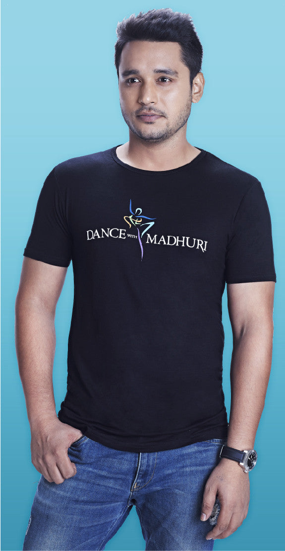 Dance With Madhuri - Guys Black T-Shirt