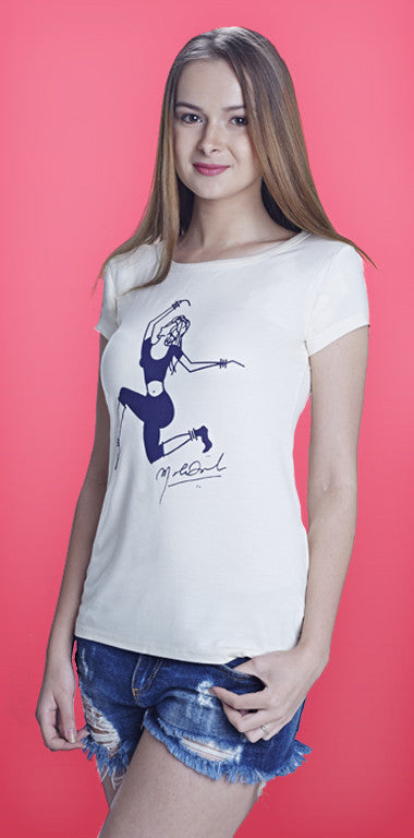 Dance will set you free! - Girls Cotton/Lycra White T-Shirt