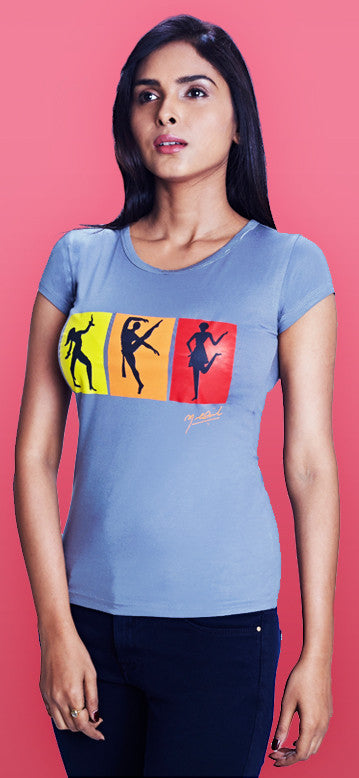 Strike a pose! - Girls Grey T-Shirt
