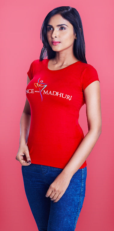 Dance With Madhuri - Girls Red Hot T-Shirt