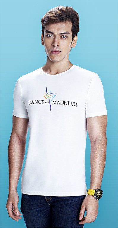 Dance With Madhuri - Guys White T-Shirt