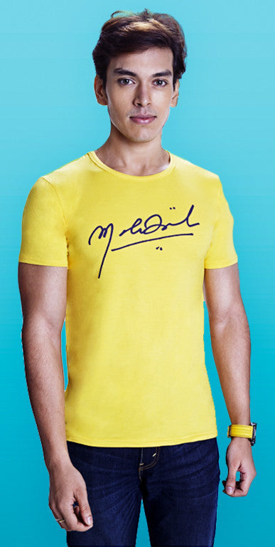 Hot Yellow Autographed T-shirt