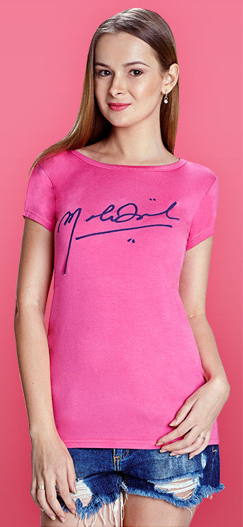 Hot Pink Autographed T-shirt