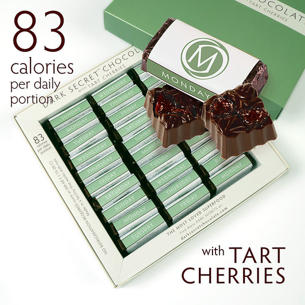DARK SECRET chocolate with Tart Cherries - 30 Day Box