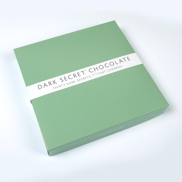 DARK SECRET chocolate with Tart Cherries - 30 Day Box closed