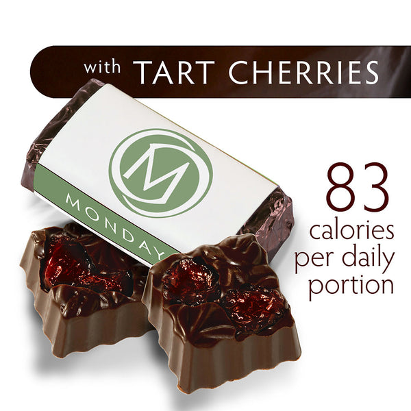 DARK SECRET chocolate with Tart Cherries - 30 Day Box product detail