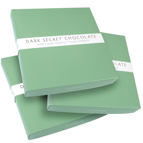 DARK SECRET chocolate with Tart Cherries - 3 / 30 Day Boxes