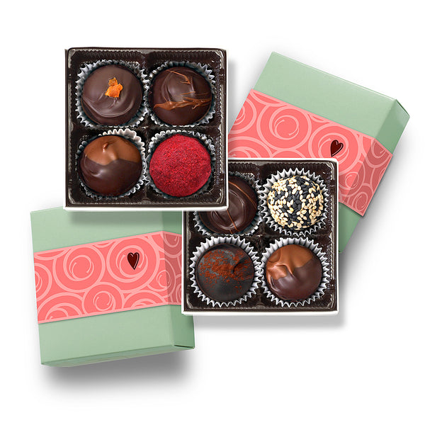 Special Valentine (2) 4 pc boxes / fresh chocolate truffles