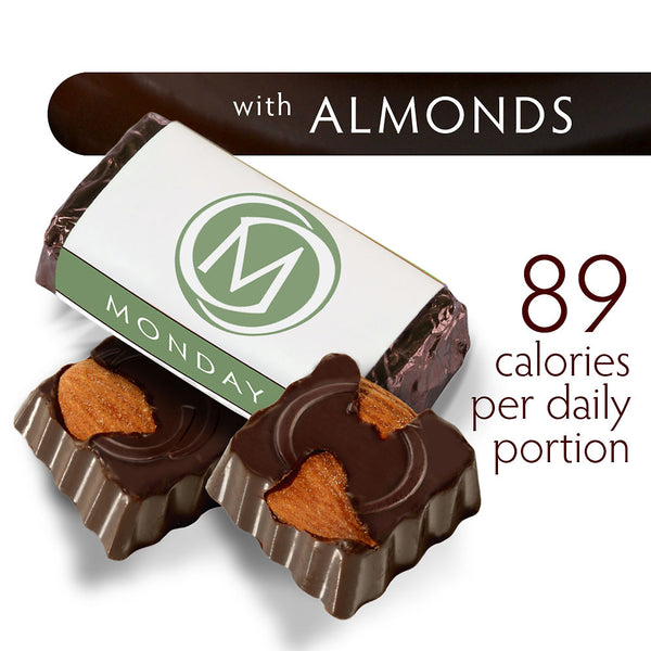 DARK SECRET chocolate with Almonds - Two 7 day boxes product detail