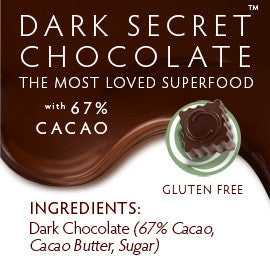 DARK SECRET chocolate with 67% Cacao - Two 7 day boxes ingredients