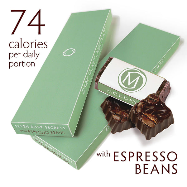 Dark chocolate with Espresso Beans - Two 7 day boxes